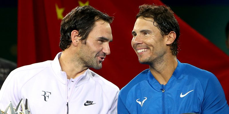 Roger Federer et Rafael Nadal PA