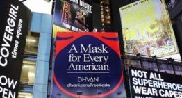 La marque Activ(ist)wear apporte des masques à Times Square