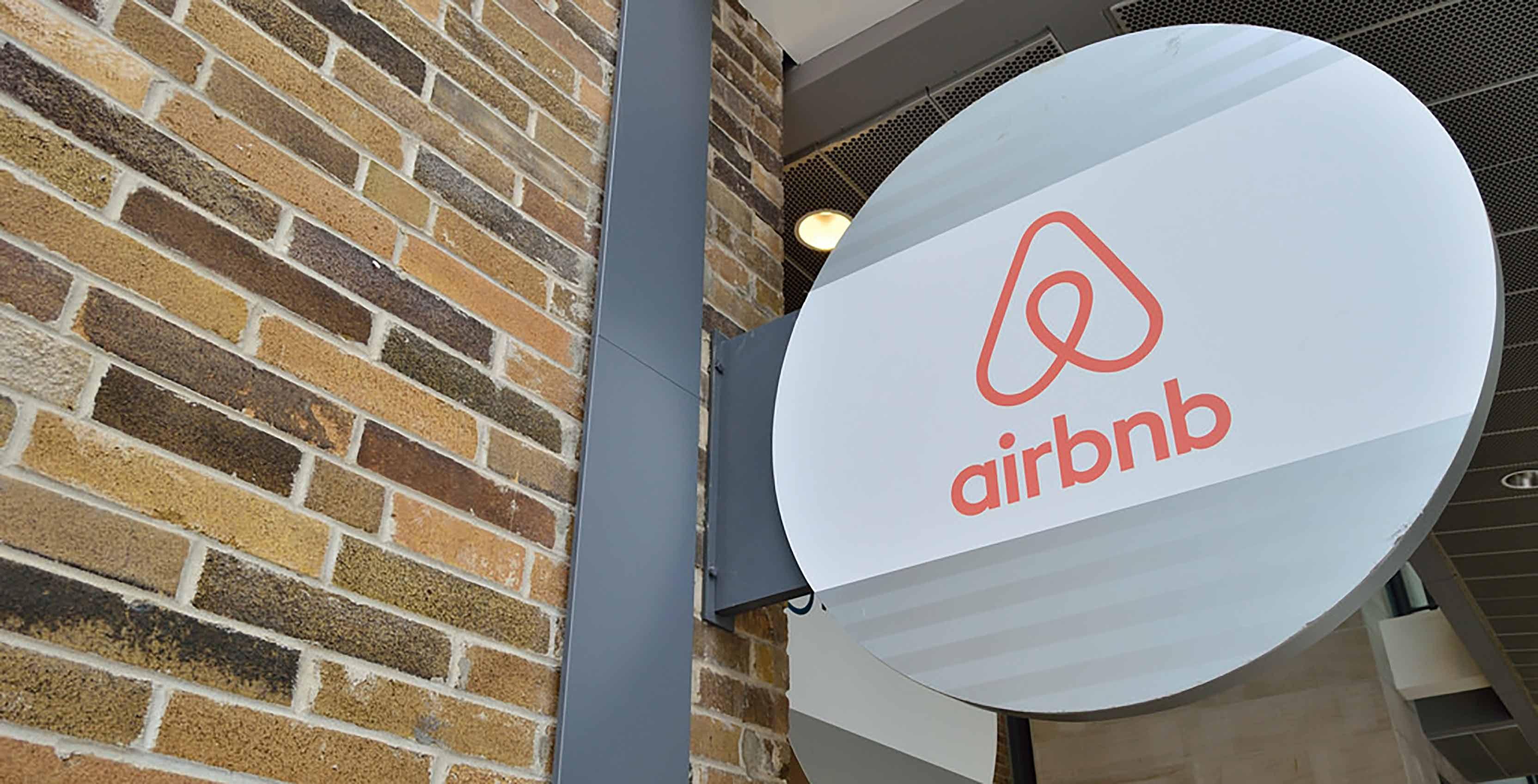 Panneau de la Airbnb