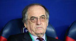 """Le Graët, président de la FFF : """"Les saisons de Ligue 1, Ligue 2, Nationale et Division 1 (femmes) sont définitivement terminées""""."""