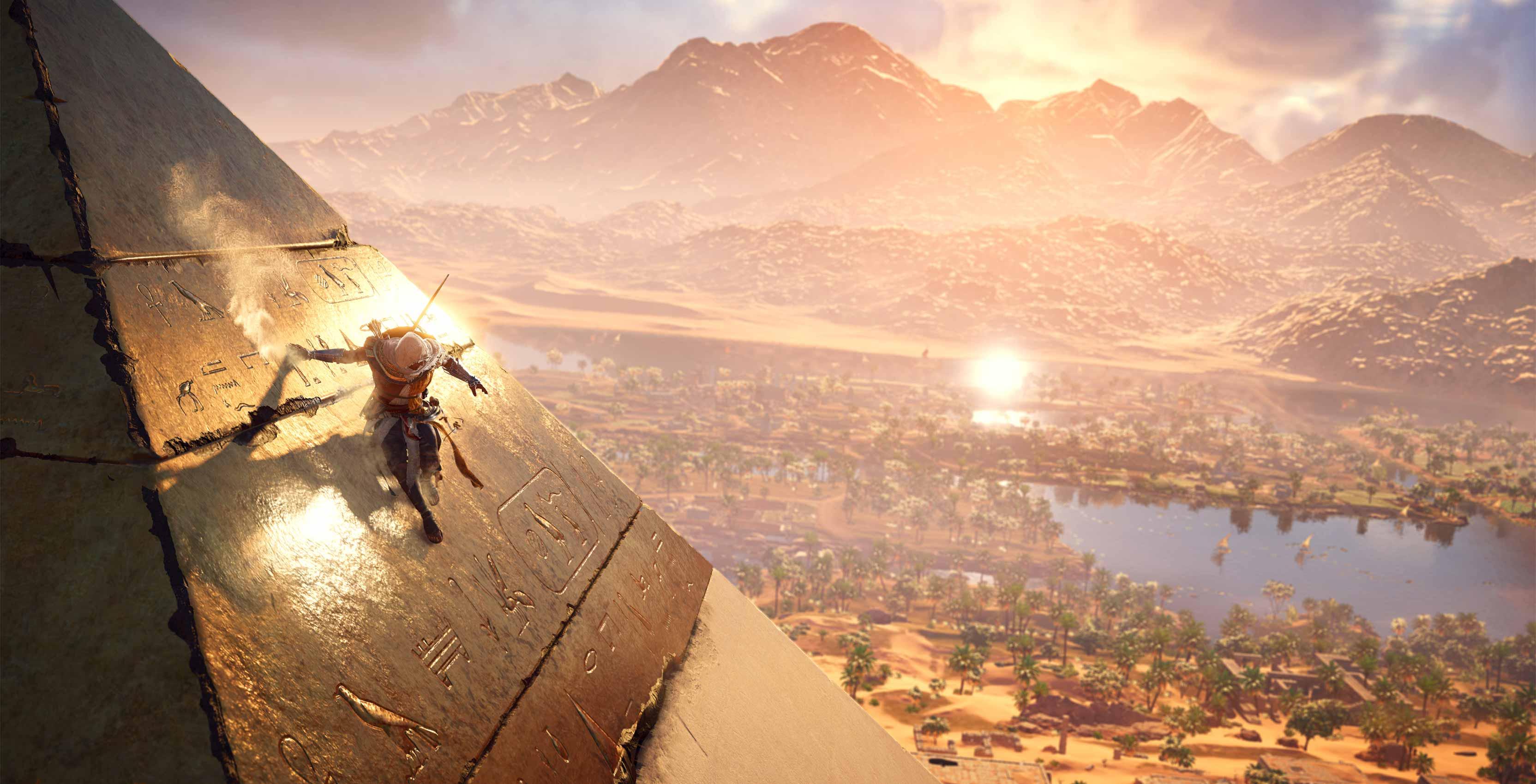 Origines du credo de l'assassin Escalader la pyramide
