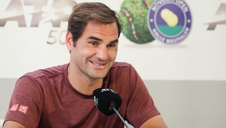Conférence de presse de Roger Federer Halle, AP