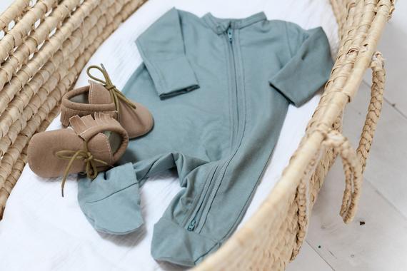 pyjama bébé menthe etsy